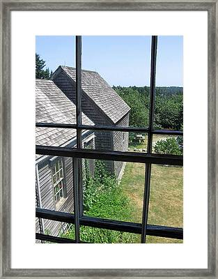 Maine Window Framed Print by J R Baldini M Photog Cr