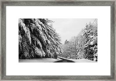 Maine Winter Backroad Framed Print
