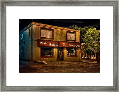Mainstay At Night Framed Print