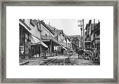 Mainstreet Burke Ghost Town - Idaho Framed Print by Daniel Hagerman
