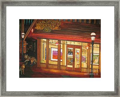 Mainstreet Station Framed Print by Vikki Wicks