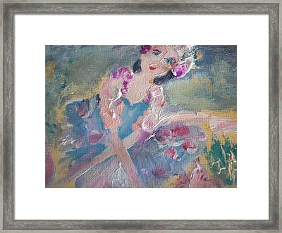 Maisie And The Magic Tutu Framed Print by Judith Desrosiers