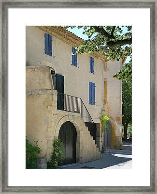 Maison With Blue Shutters Framed Print