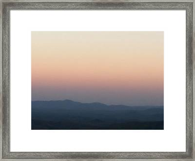 Framed Print featuring the photograph Majestic Blue Ridge Mountains by Elizabeth Coats
