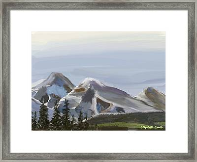 Framed Print featuring the painting Majestic Mountains by Elizabeth Coats