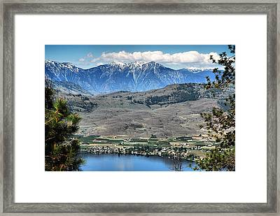 Majestic Mountains Overlook Osoyoos Framed Print by Don Mann