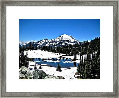 Framed Print featuring the photograph Majestic Rainier by Rob Green