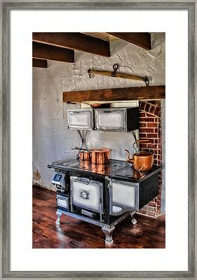 Majestic Stove No. 1 Framed Print by Susan Candelario