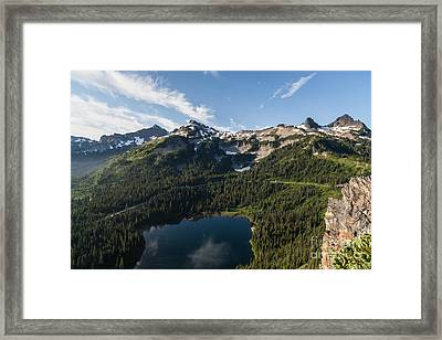 Majestic Tatoosh Range Framed Print by Mike Reid