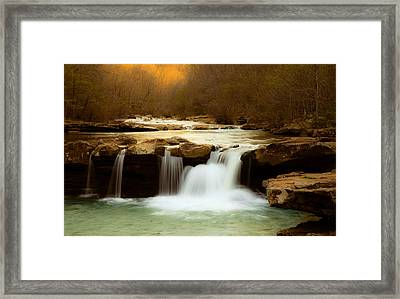 Majestic Waterfalls Framed Print by Iris Greenwell