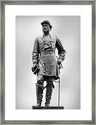 Major General John Reynolds Statue At Gettysburg Framed Print by Randy Steele