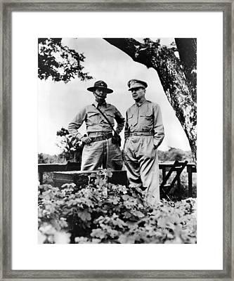 Major General Jonathan Wainwright Framed Print by Everett