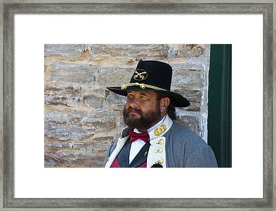 Major General Lunsford L.lomax Portrayed By Dan L. Carr 150th Anniversary Of The American Civil War  Framed Print by Jonathan Whichard