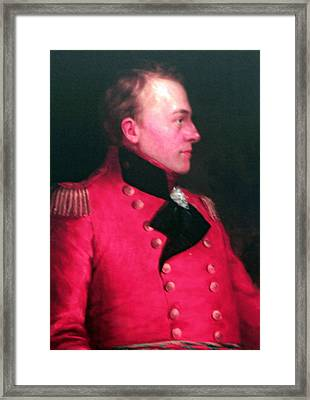 Major General Sir Iasaak Brock Framed Print by Cyryn Fyrcyd