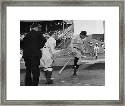 Major League Baseball. From Left Former Framed Print by Everett