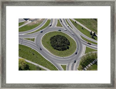 Major Roads And Dual Carriageways. A Framed Print