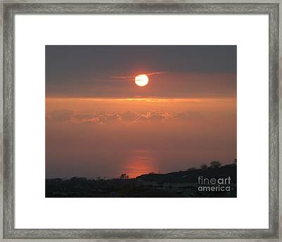 Makakilo Sunset Framed Print by Anthony Trillo