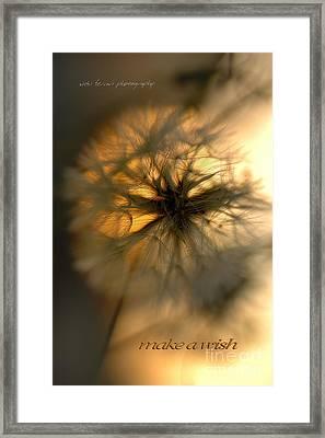 Make A Wish Framed Print by Vicki Ferrari