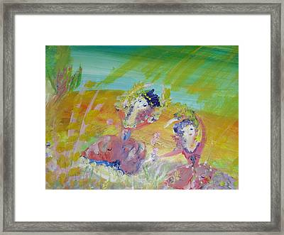 Make Hay While The Sunshines Framed Print by Judith Desrosiers