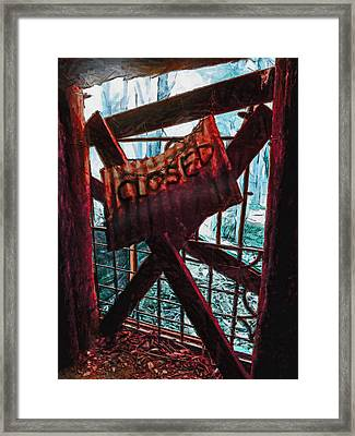 Make Sure You Are On The Right Side Of Heaven's Gate Framed Print by Steve Taylor