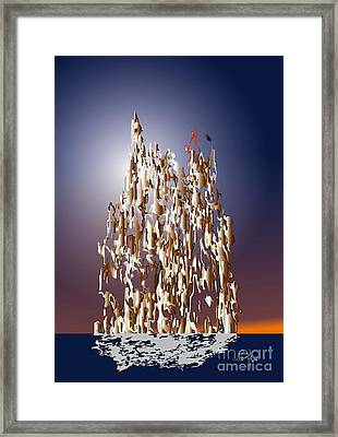 Framed Print featuring the digital art Makebelieve World 2 by Leo Symon
