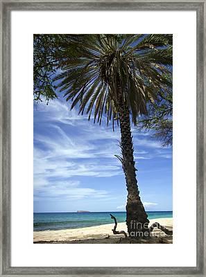 Makena Beach And Molokini Framed Print