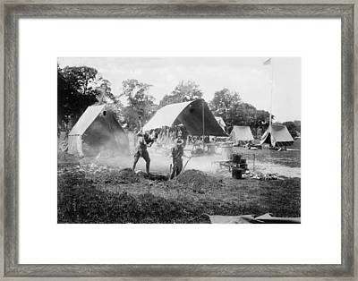 Making A Hole For Garbage, 1918-1920 Framed Print by Everett