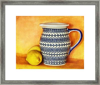 Making Lemonade Framed Print by Tammy Wetzel