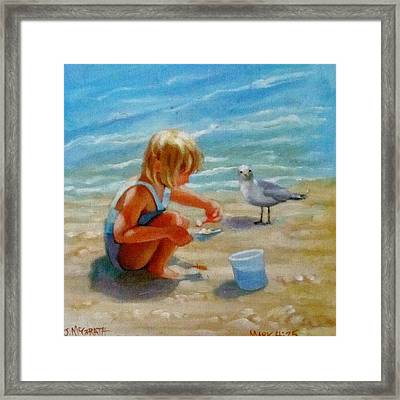 Making Lunch Framed Print