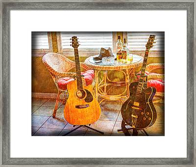 Making Music 004 Framed Print by Barry Jones