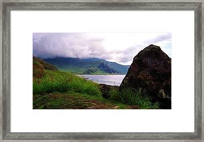 Framed Print featuring the photograph Makua Seen From Yokohama Beach by Craig Wood