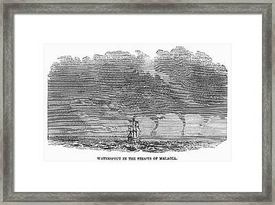 Malacca: Waterspouts Framed Print