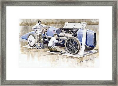 Malcolm Campbell Sunbeam Bluebird 1924 Framed Print by Yuriy  Shevchuk