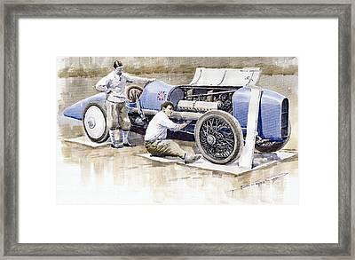 Malcolm Campbell Sunbeam Bluebird 1924 Framed Print