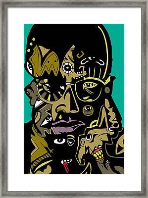 Malcolm X Full Color Framed Print
