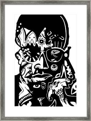 Malcolm X Framed Print by Kamoni Khem