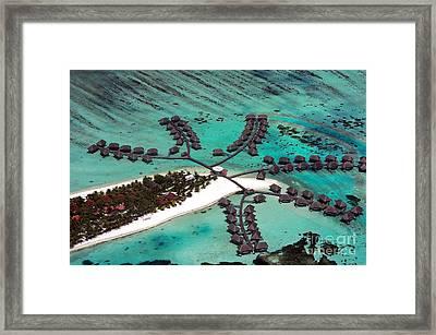 Maldives Aerial Framed Print by Jane Rix