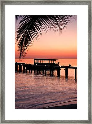 Maldives Sunrise Framed Print by Shirley Mitchell