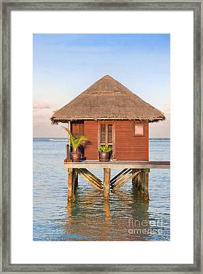 Maldives Villa Framed Print