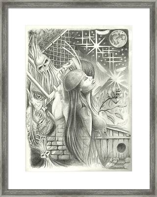 Male And Female Balance Framed Print by Jr Sanderson