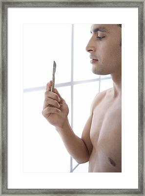 Male Cosmetic Surgery Framed Print by Adam Gault