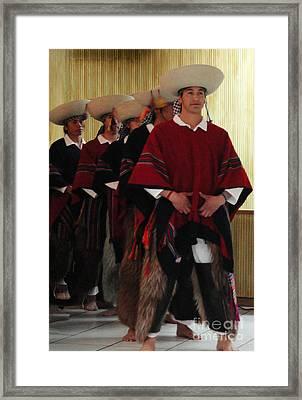Male Ecuadorian Dancers Framed Print by Al Bourassa