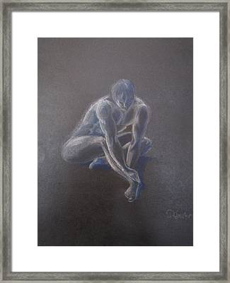 Male Figure In Contemplation Framed Print