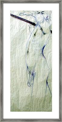 Male Nude 4763 Framed Print by Elizabeth Parashis