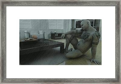 Male Nude Study Framed Print by Maynard Ellis