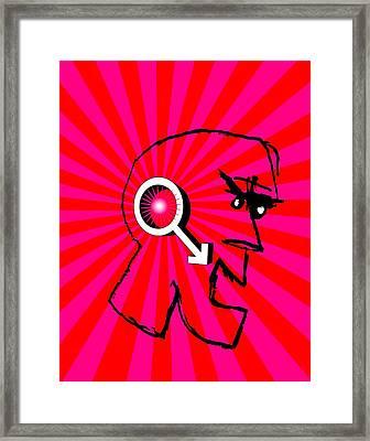 Male Rage, Conceptual Image Framed Print
