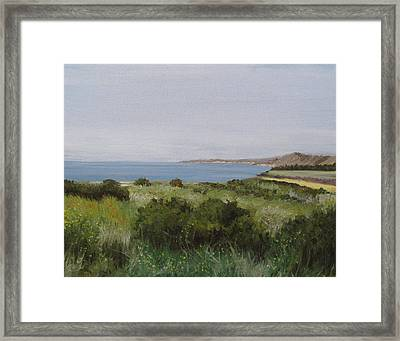 Malibu Bluffs Framed Print by Cristin Paige