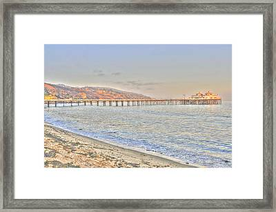 Malibu Pier North Framed Print