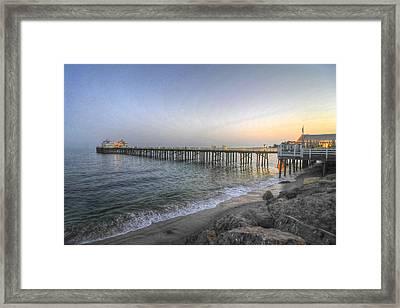 Malibu Pier Restaurant Framed Print