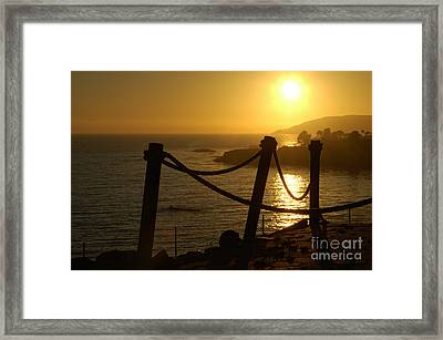 Malibu Sunset Framed Print by Micah May